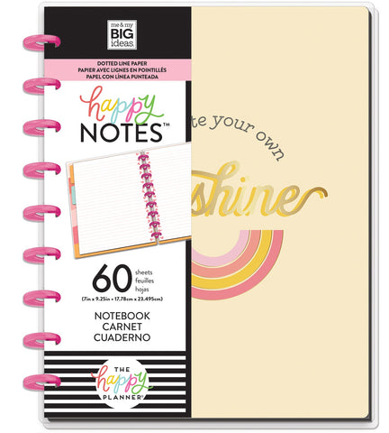 569812 Happy Planner Medium Notebook W/60 Sheets Create Your Own Sunshine