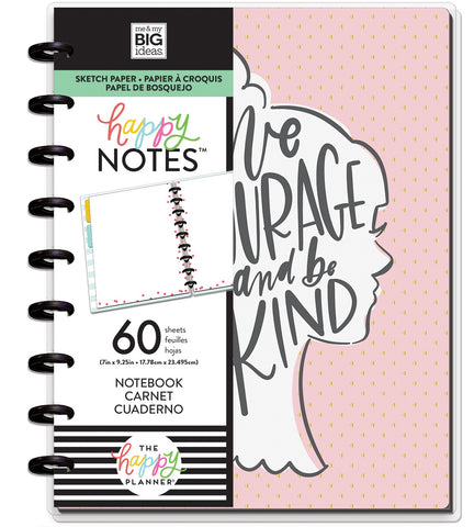 569813 Happy Planner Medium Notebook W/60 Sheets Have Courage
