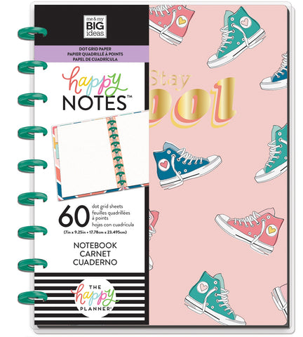 569814 Happy Planner Medium Notebook W/60 Sheets Stay Cool