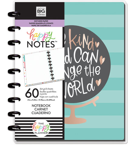 569815 Happy Planner Medium Notebook W/60 Sheets One Kind World