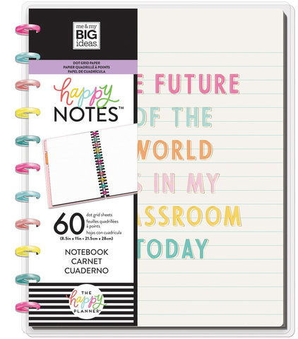 569820 Happy Planner Big Notebook W/60 Sheets Future Of The World Educational