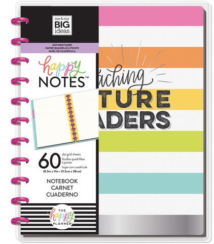 569822 Happy Planner Big Notebook W/60 Sheets Teaching Future