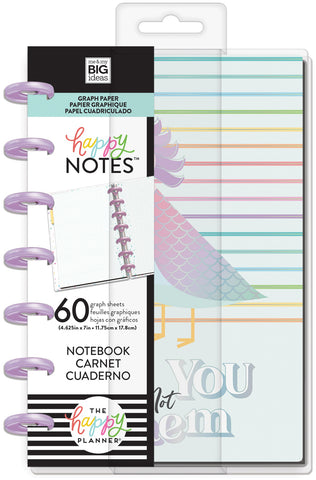 569829 Happy Planner Mini Notebook W/60 Sheets Be You Not Them Educational