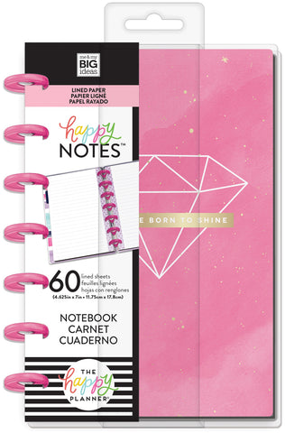 569830 Happy Planner Mini Notebook W/60 Sheets Born To Shine Educational