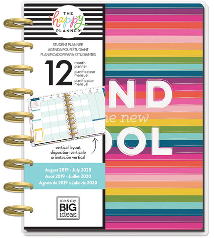 "569837 Happy Planner 12-Month Dated Medium Planner 7.75""X9.75"" Kind Is The New Cool, Aug 2019-Jul 2020"