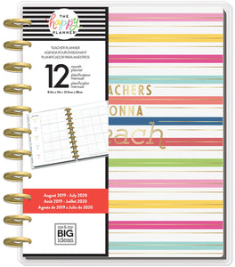 "569898 Happy Planner 12-Month Dated Big Planner 9.25""X11.5"" Gonna Teach, Teacher, Aug 2019-Jul 2020"