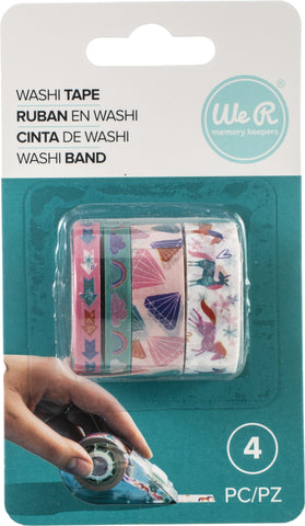 570055 We R Washi Tape Rolls 4/Pkg-Unicorn