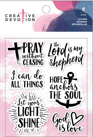 571320 Creative Devotion Clear Acrylic Stamps God Is Love