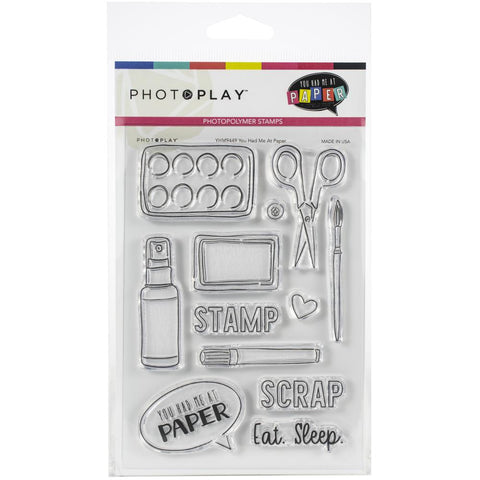 580207 PhotoPlay Photopolymer Stamp You Had Me At Paper