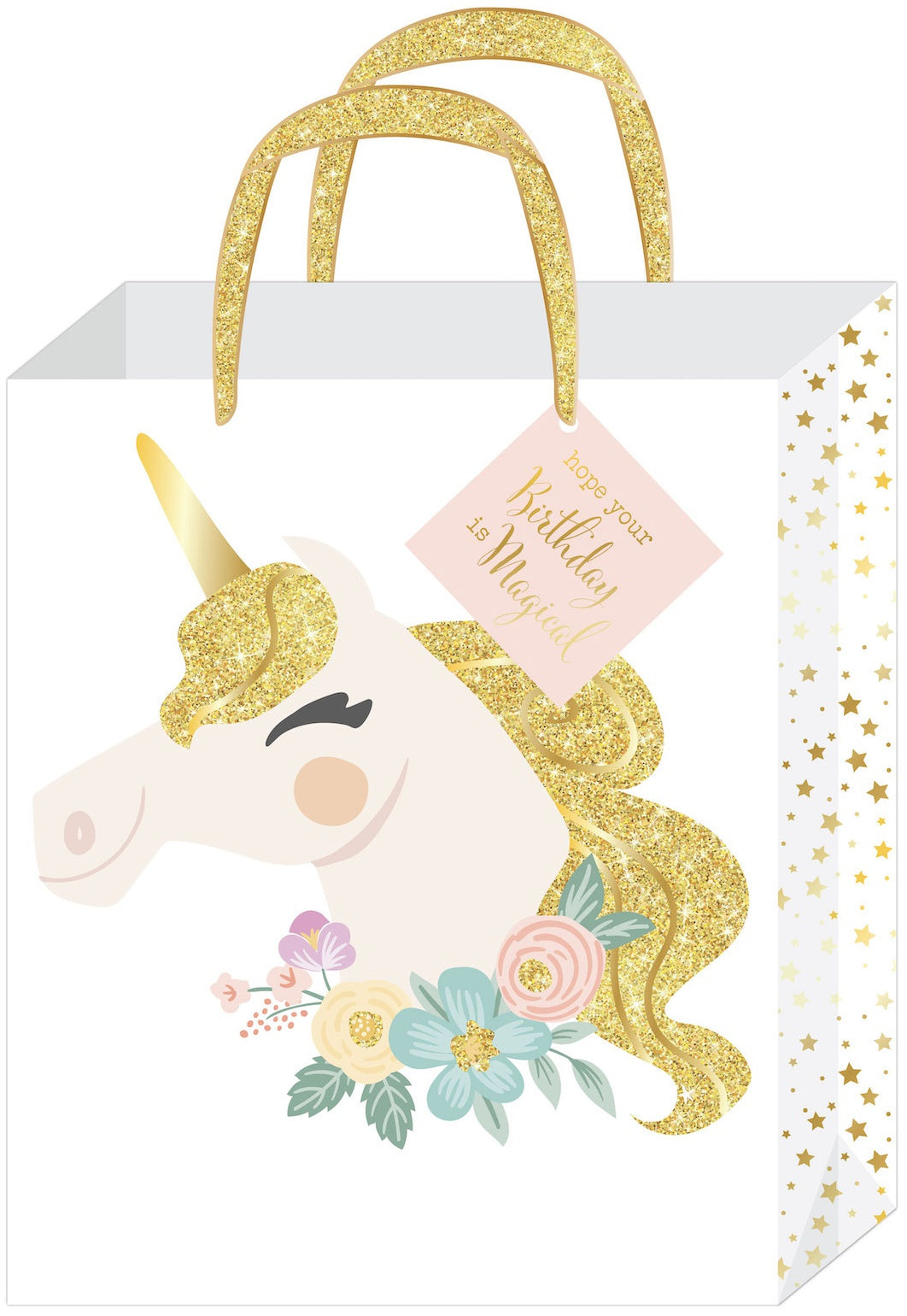 588491 Gift Bag Large Birthday Unicorn 3 Pkg
