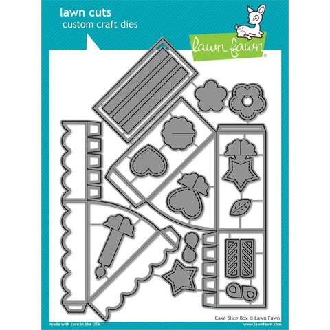 589566 Lawn Cuts Custom Craft Die Cake Slice Box