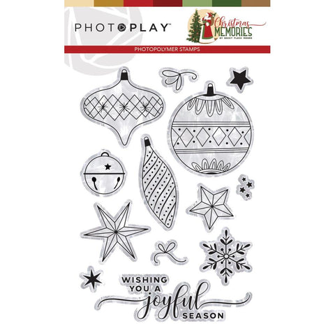 593662 PhotoPlay Photopolymer Stamp Elements, Christmas Memories