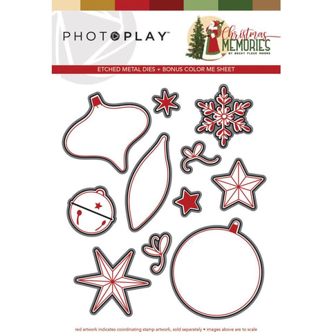 593665 PhotoPlay Etched Die Elements, Christmas Memories