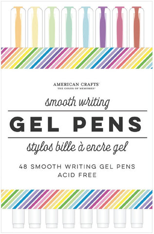 596554 AC Office Gel Pens Tube 48/Pkg Rainbow Stripe