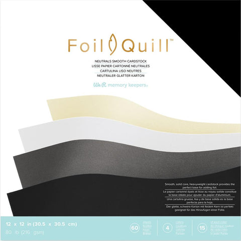 "597763 We R Memory Keepers Foil Quill Cardstock 12""X12"" 60/Pkg Neutrals/Smooth"
