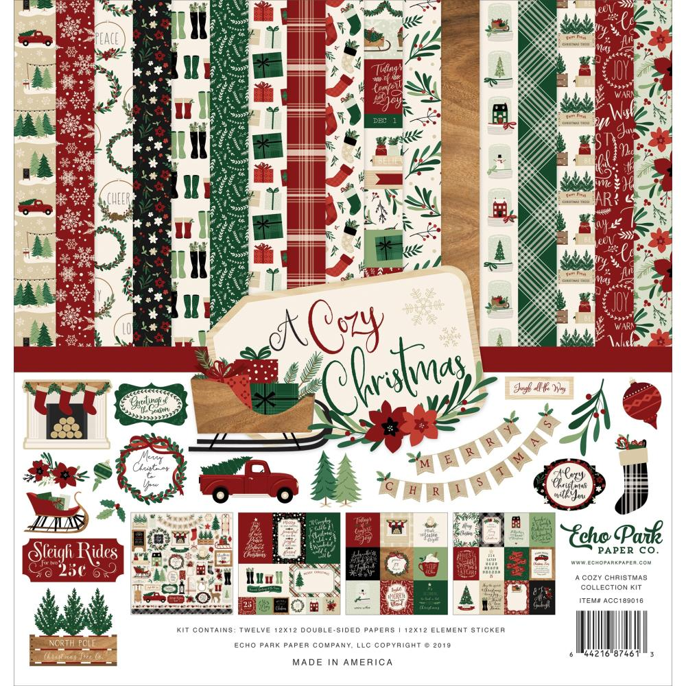 "601077 Echo Park Collection Kit 12""X12"" A Cozy Christmas"