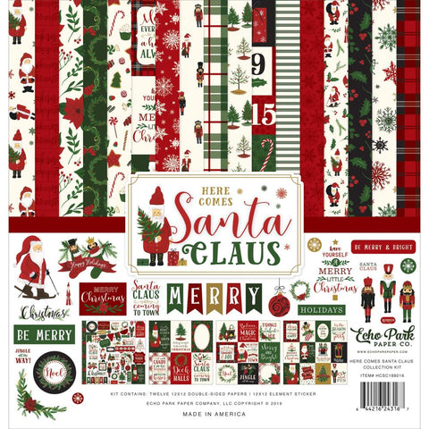 "601112 Echo Park Collection Kit 12""X12"" Here Comes Santa Claus"