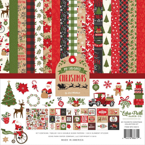 "601139 Echo Park Collection Kit 12""X12"" My Favorite Christmas"