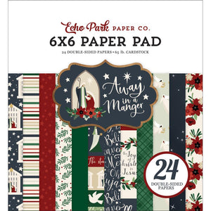 "601168 Echo Park Double-Sided Paper Pad 6""X6"" 24/Pkg Away In A Manger"