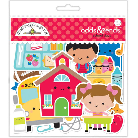 602307 Doodlebug Odds & Ends Die-Cuts School Days, 116/Pkg