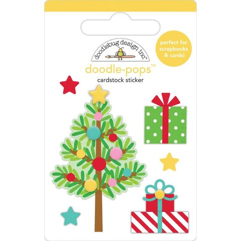 Doodlebug Doodle-Pops 3D Stickers Trim The Tree, Christmas Magic