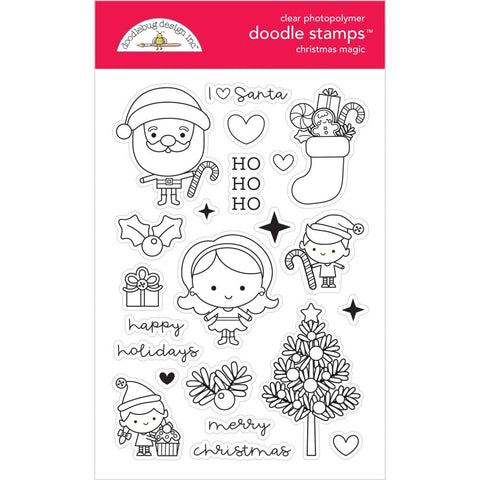 Doodlebug Clear Doodle Stamps Christmas Magic