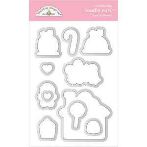 Doodlebug Doodle Cuts Dies Santa's Sweets, Christmas Magic