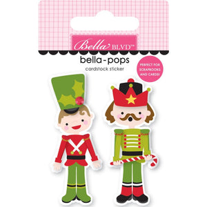 Santa Squad Bella-Pops 3D Stickers Nutty Or Nice