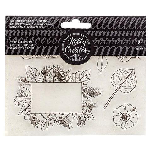 548797 Kelly Creates Acrylic Traceable Stamps Tropical