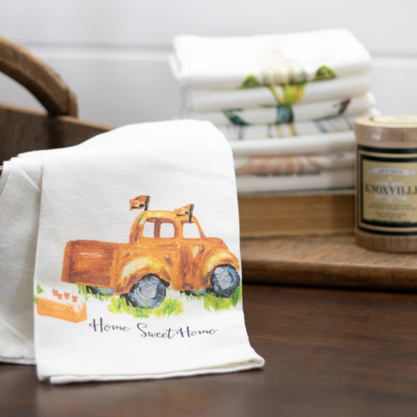 Tea Towel Orange Truck