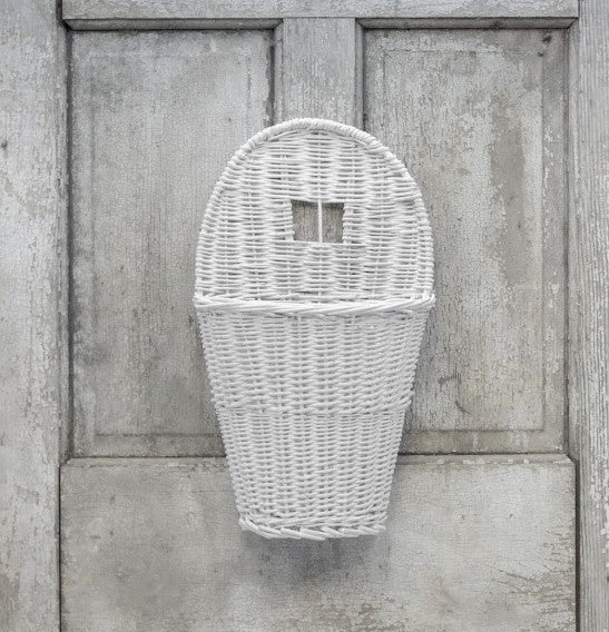 Woven Willow Vine Basket, White