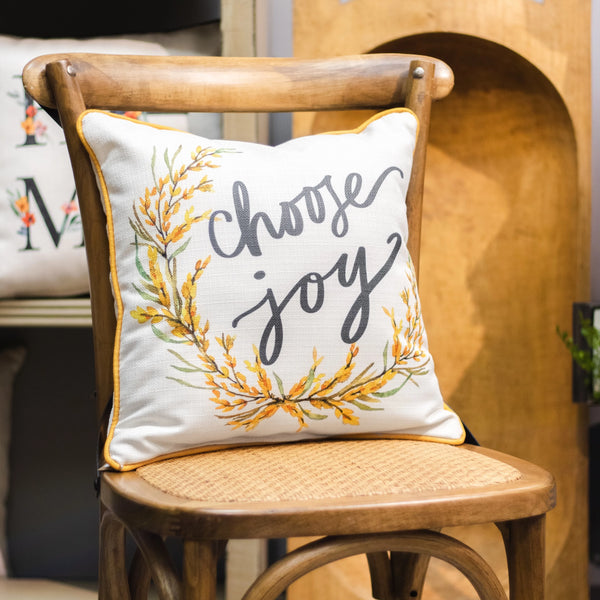 """Choose Joy"" Pillow"
