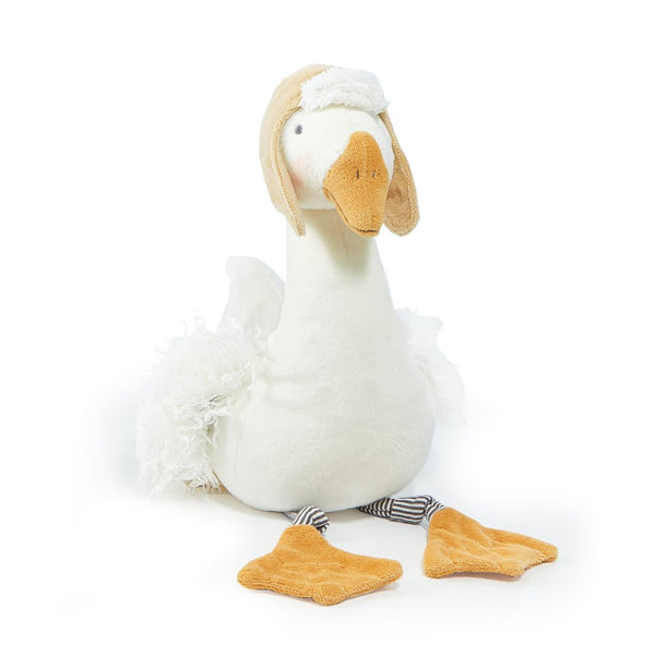 Avery the Avaiator Snow Goose Plush, 12""