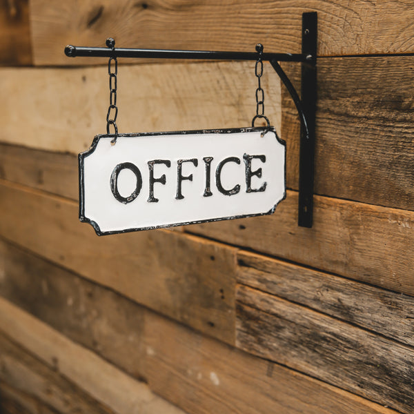 "Double-sided hanging ""Office"" sign"