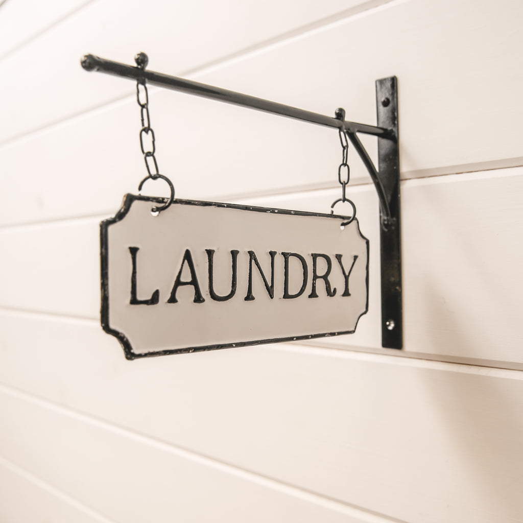 Double-sided hanging Laundry Sign