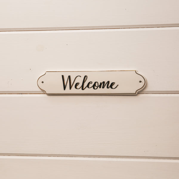 "Ceramic ""Welcome"" Plaque"