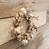"12"" Cotton and Husk wreath"