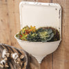 Cream pinnacle wall pocket / planter