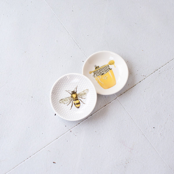"3"" Bee Themed Round Dish, in two styles!"