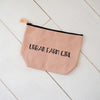 Cotton Sayings Pouch, available in two styles