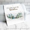 """I'd rather be in the Smokies"" cottage pillow, 20"""