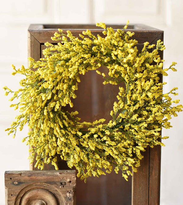 Yellow Array Astilbe wreath, 6""