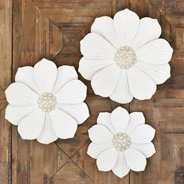 Tin Wall Flower; available in three sizes