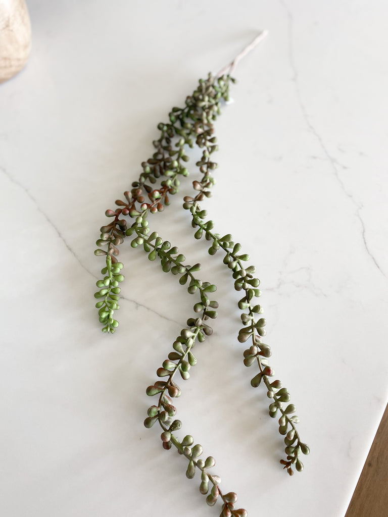 Cascading beaded succulent, 27""