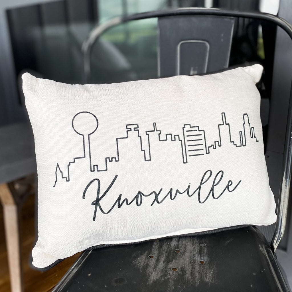 Knoxville skyline pillow, available in two styles!