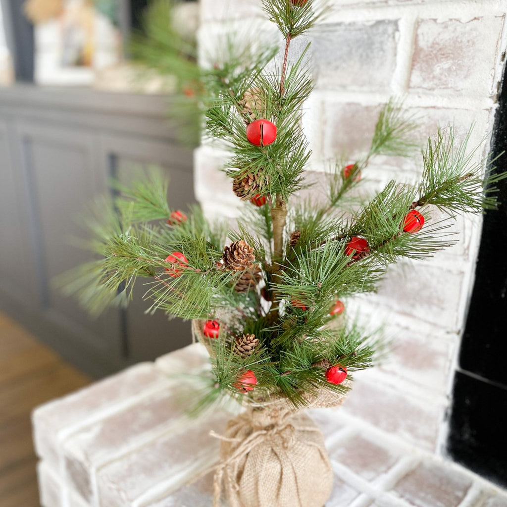 Pine and jingle bell tree, 23""