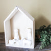 Elegant Wood and Ceramic Nativity Set
