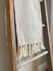 Cotton Beige Patterned Throw