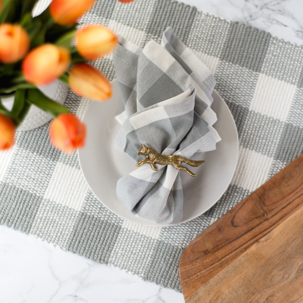 Gray and Ivory Wicklow Napkin, 18""