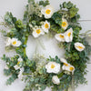 Alabaster Poppy Wreath, 22""